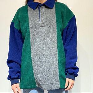 Vintage Eddie Bauer tek EBTEK quarter zip pullover